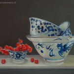 Chinese bowls and red currants